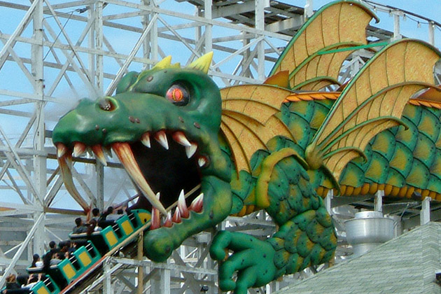 Playland Dragon Roller Coaster